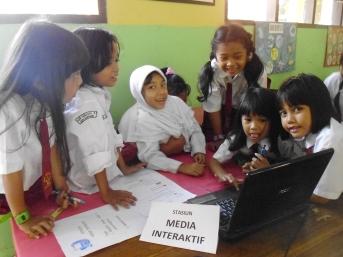 stasiun media interaktif - salah satu stasiun pembelajaran